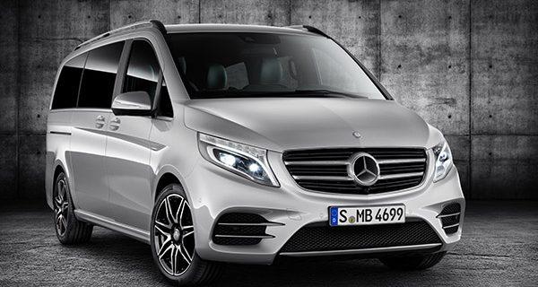 Silver Mercedes Benz V CLass