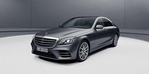 Dark Grey Mercedes S Class