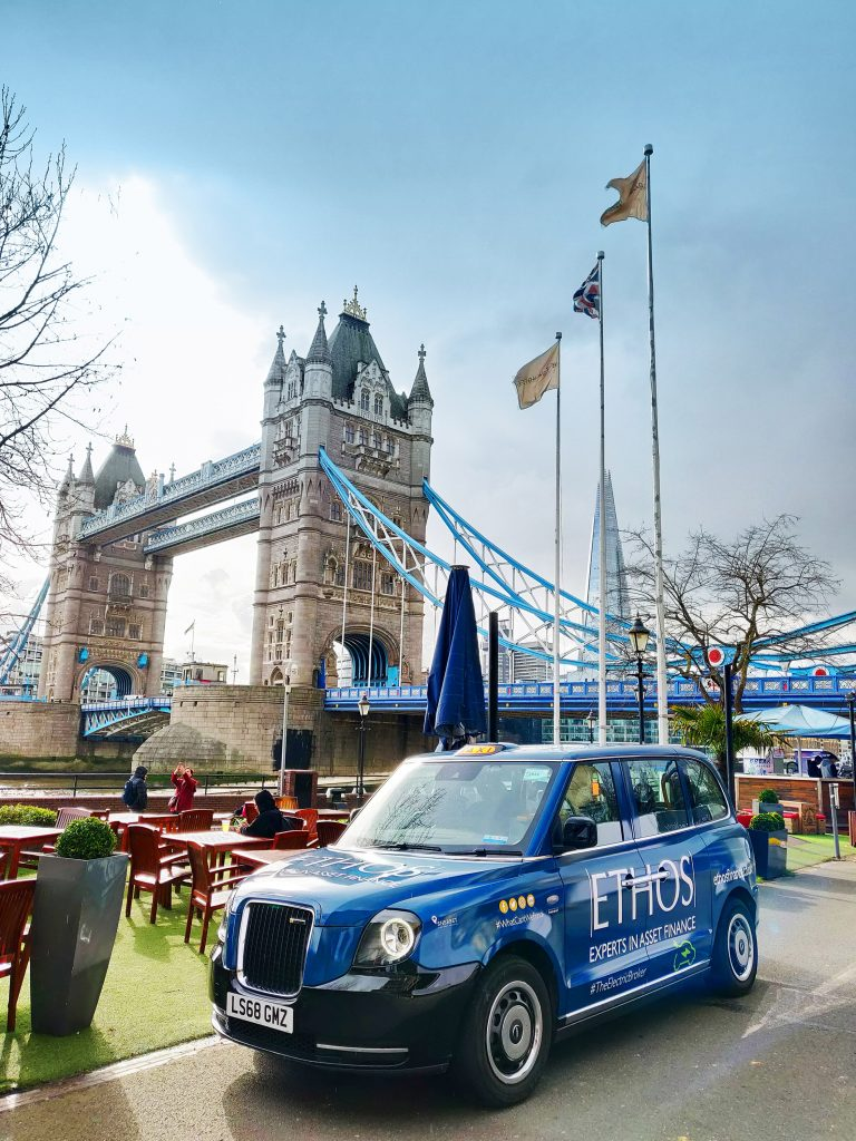 Ethos Electric Taxi in London