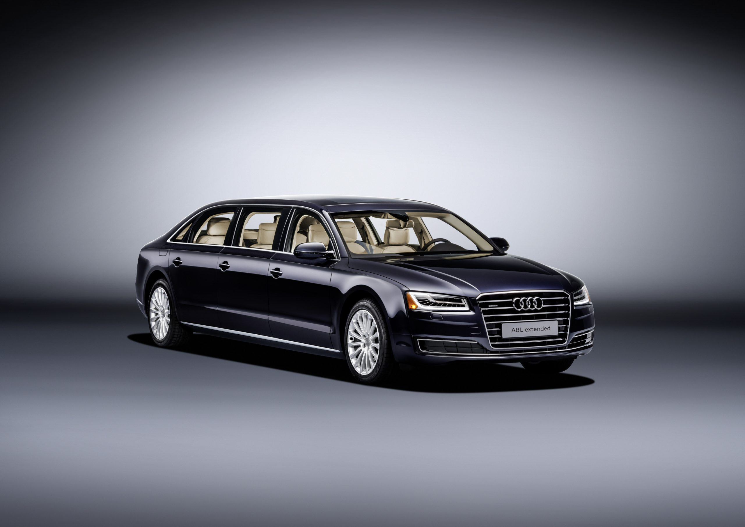Black Audi A8 L Extended