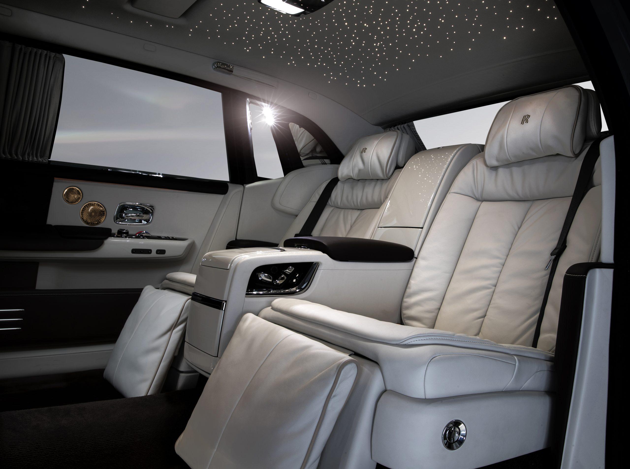 Rolls-Royce Phantom interior with stars