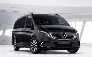 Black Mercedes EQV - Front