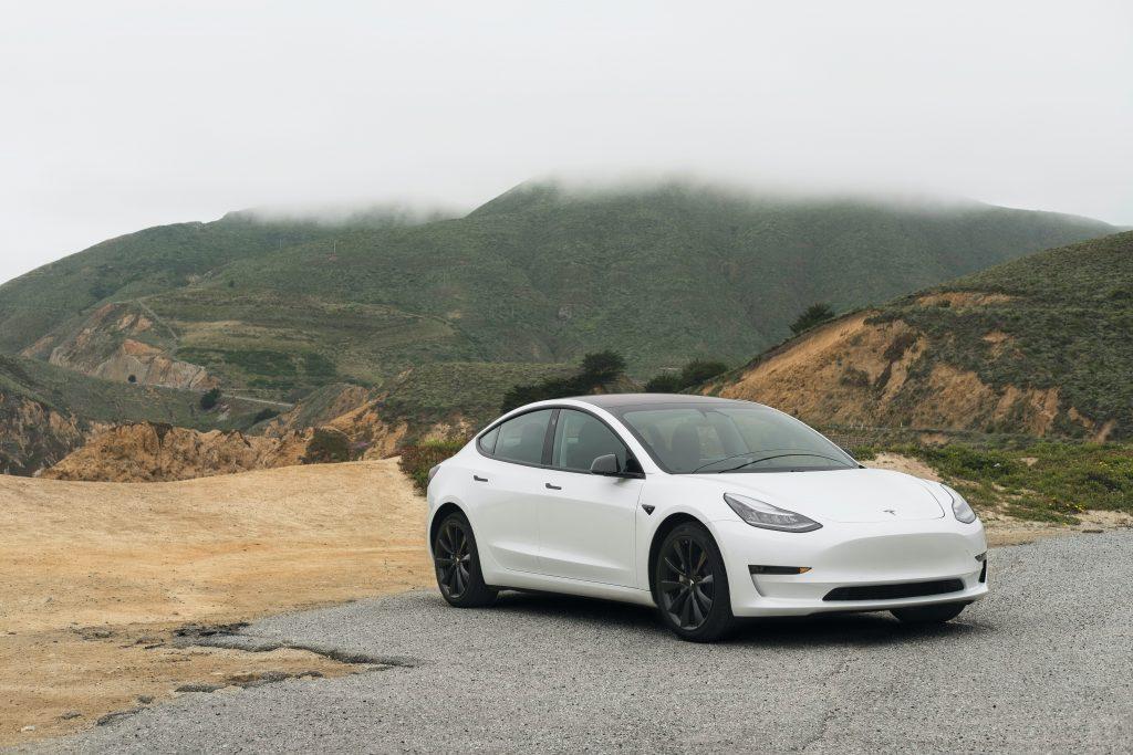 White Tesla Model 3