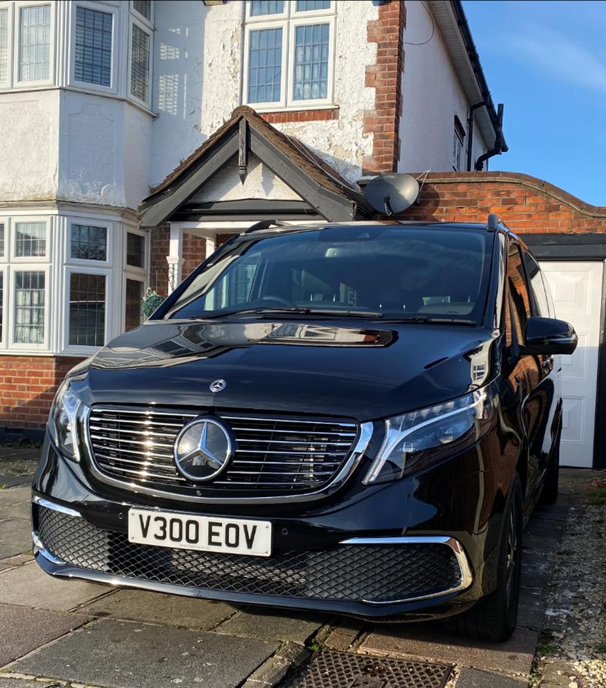 Front of Mercedes EQV