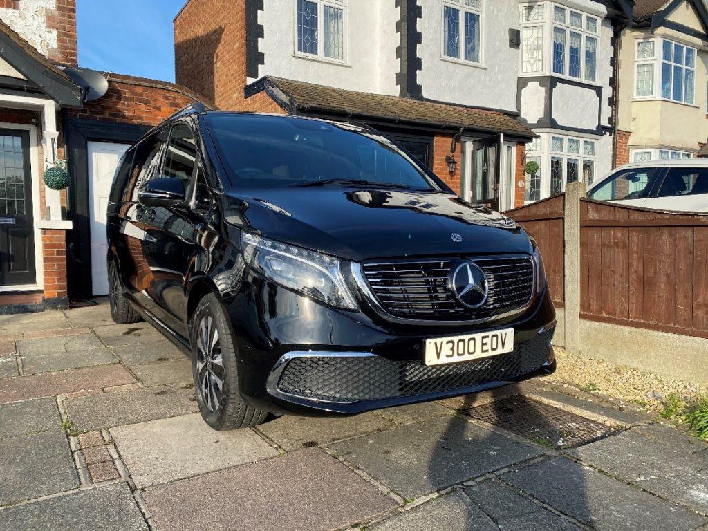 Black Mercedes EQV