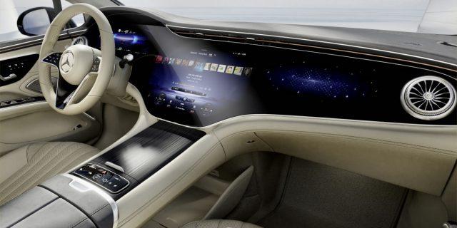 Interior of Mercedes EQS